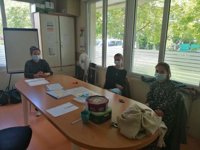 Immersion de 3 étudiantes de 2ème année d'études de médecine au sein des Hébergements